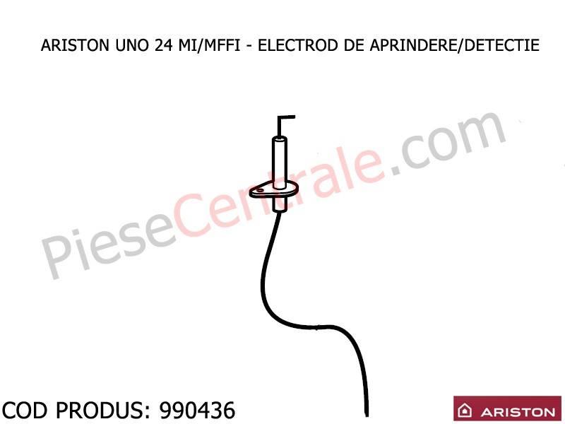Poza Electrod aprindere si ionizare centrala termica Ariston UNO 24 mi/mffi