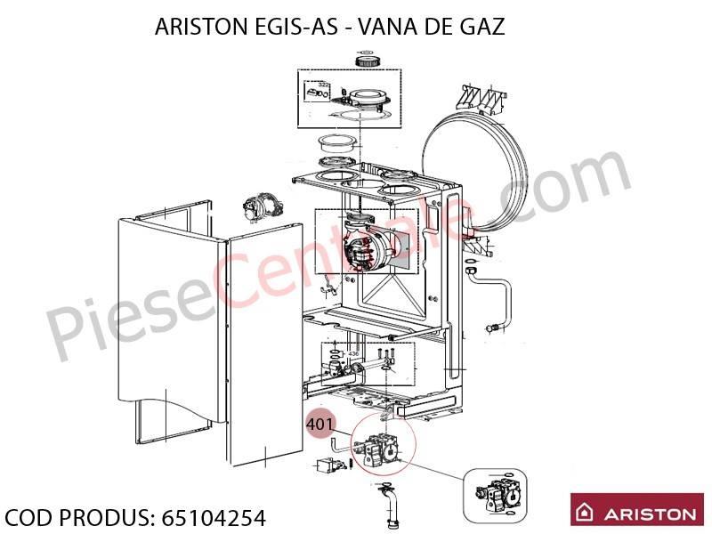 Poza Vana de gaz centrale termice Ariston BIS 24 FF, EGIS, AS, Clas, Genus