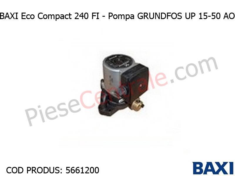 Poza Pompa GRUNDFOS UP 15-50 AO Baxi Eco3 Compact 240 FI