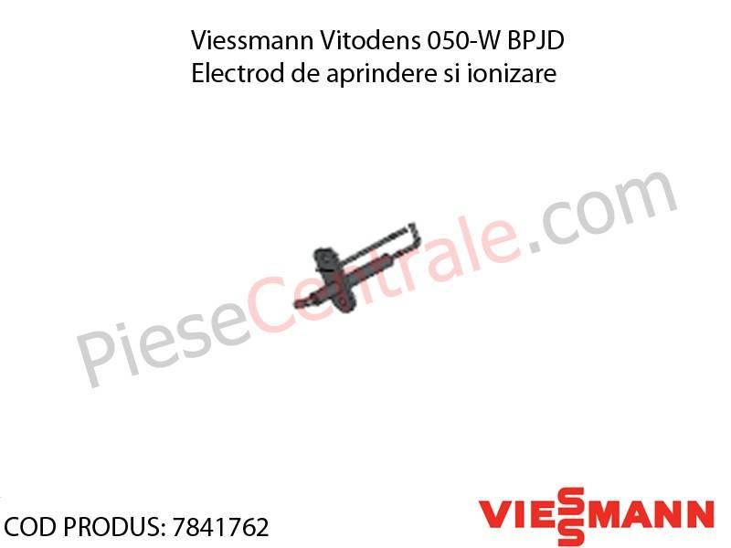 Poza Electrod de aprindere si ionizare centrala termica Viessmann Vitodens 050-W BPJD