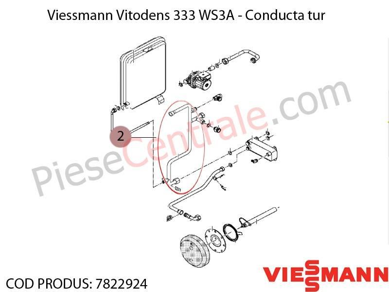 Poza  Conducta tur centrala termica Viessmann Vitodens 333 WS3A