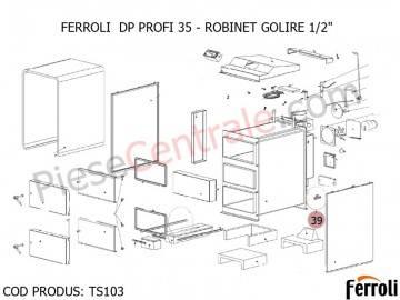 Poza Robinet golire 1/2 centrala pe lemne Ferroli DP